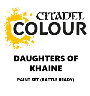 Daughters of Khaine Paint Set Battle Ready Paint Set for din hær