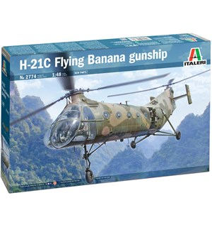 H-21C Flying Banana Gunship Italeri 1:48 Byggesett