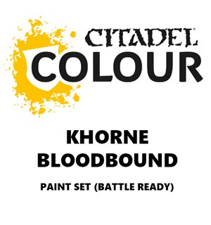 Khorne Bloodbound Paint Set Battle Ready Paint Set for din hær