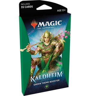 Magic Kaldheim Theme Green Theme Booster - 35 grønne kort