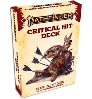 Pathfinder 2nd Ed Critical Hit Deck Second Edition RPG - 52 kort