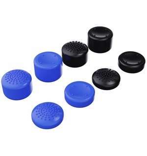 Piranha Thumb Grips PS5 - 8 stk 4x dome + 4x Concave - Medium/Tall