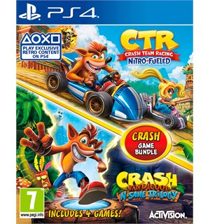 Crash Game Bundle Nitro+N'Sane PS4 N'Sane Trilogy + CTR Nitro-Fueled