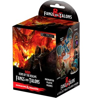 D&D Figur Icons Fangs & Talons x4 Dungeons & Dragons Icons of the Realms