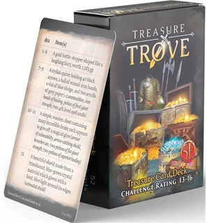 D&D Treasure Trove Deck CR 13-16 Dungeons & Dragons - 52 kort