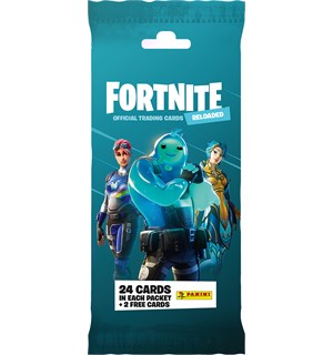 Fortnite TCG Reloaded Fat Pack 24 samlekort + 2 ekstra kort