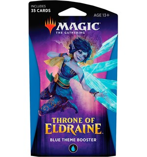 Magic Throne of Eldraine Theme Blue Theme Booster - 35 blå kort