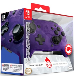 Nintendo Switch Controller Camo Purple Faceoff Deluxe - m/ audio jack inngang