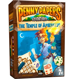 Penny Papers Temple Apikhabou Brettspill Penny Papers Adventures