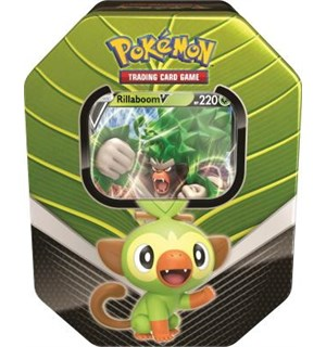 Pokemon Tin Galar Partners Rillaboom V Spring 2020 Collector's Tin Box