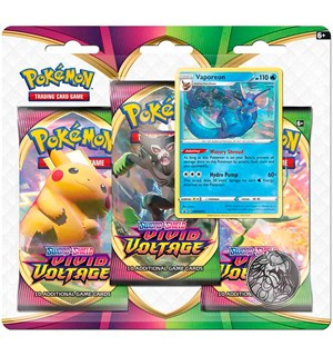 Pokemon Vivid Voltage 3-Pack Vaporeon Sword & Shield 4 - 3 boosterpakker