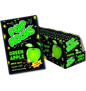 Pop Rocks Green Apple - 24 stk Hel kartong med Pop Rocks Green Apple