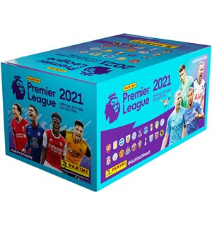 Premier League 2021 Stickers Display 50 Panini Fotballklistremerker - 250 stk