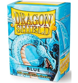 Sleeves Classic Blue x100 - 63x88 m/box Dragon Shield Kortbeskyttere m/deckbox