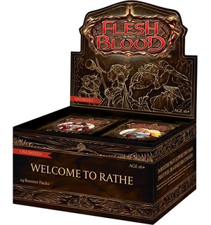 Flesh & Blood Welcome to Rathe Display 24 boosterpakker á 15 kort per pakke