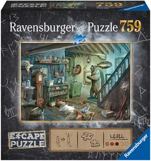 Forbidden Basement 759 biter Puslespill Ravensburger Escape Room Puzzle