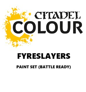 Fyreslayers Paint Set Battle Ready Paint Set for din hær