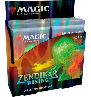 Magic Zendikar Rising Collector Display 12 boosterpakker - Fabrikkforseglet