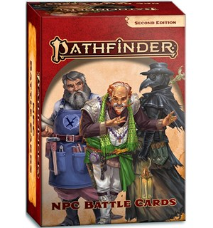 Pathfinder 2nd Ed Cards NPC Battle Cards Second Edition RPG - 110 kort