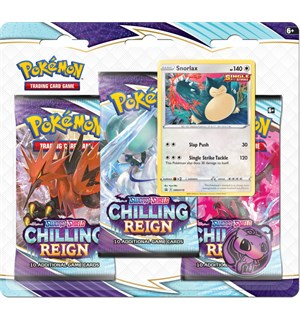 Pokemon Chilling Reign 3-Pack Snorlax Sword & Shield 6 - 3 boosterpakker