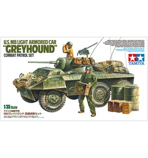 US M8 Light Armored Car Greyhound Tamiya 1:35 Byggesett