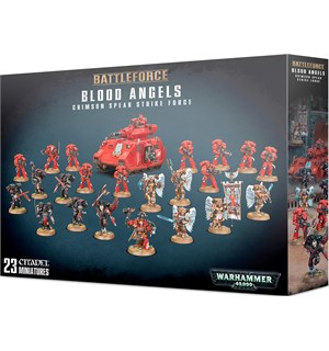 Blood Angels Crimson Spear Strike Force Warhammer 40K - 23 miniatyrer