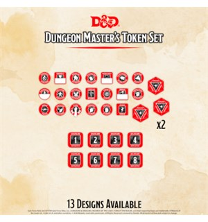 D&D Token Set DM Dungeon Master Dungeons & Dragons