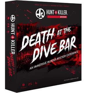 Death At The Dive Bar Brettspill Et Hunt A Killer Mysterium