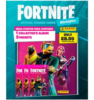 Fortnite TCG Reloaded Mega Starter Pack Trading Cards - m/ album + 3 boostere