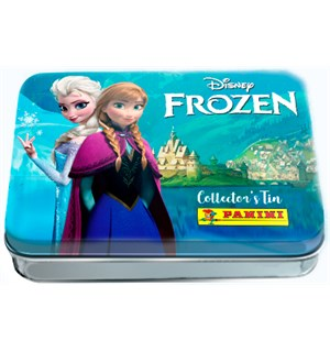 Frozen Movie Stickers Tin Box Tinnboks med 10 boosterpakker