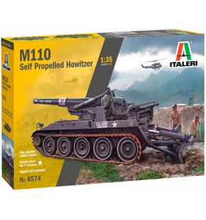 M110 Self Propelled Howitzer Italeri 1:35 Byggesett
