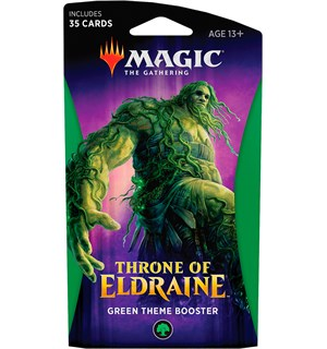 Magic Throne of Eldraine Theme Green Theme Booster - 35 grønne kort