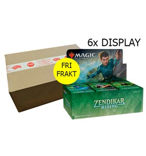 Magic Zendikar Rising 6 stk Display Fri Frakt/Full case