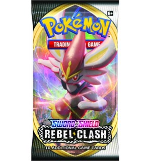 Pokemon Rebel Clash Booster Sword & Shield 2 - 10 tilfeldige kort