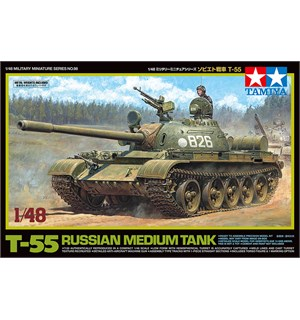 Russian Medium Tank T-55 Tamiya 1:48 Byggesett