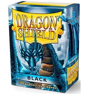 Sleeves Classic Black x100 - 63x88 m/box Dragon Shield Kortbeskyttere m/deckbox