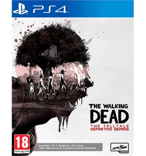 The Walking Dead Definitive Series PS4 Inkluderer sesong 1-4 med bonusinnhold