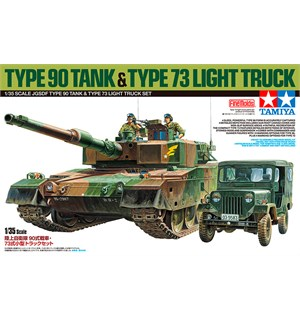 Type 90 Tank & Type 73 Light Truck Set Tamiya 1:35 Byggesett - JGSDF