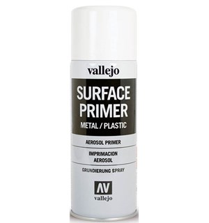 Vallejo Surface Primer Spray White 400ml Sprayboks - Hobby Paint Spray