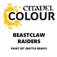 Beastclaw Raiders Paint Set Battle Ready Paint Set for din hær