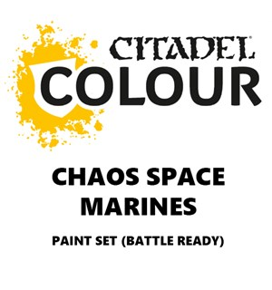 Chaos Space Marines Paint Set Battle Ready Paint Set for din hær