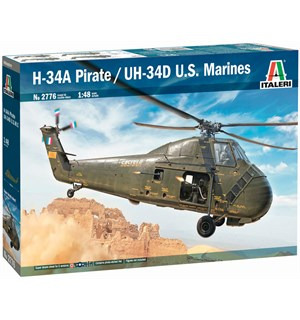 H-34A Pirate / UH-34D US Marines Italeri 1:48 Byggesett