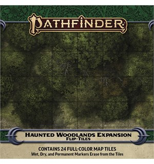 Pathfinder Flip Tiles Haunted Woodlands For Flip-Tiles Forest Starter Set