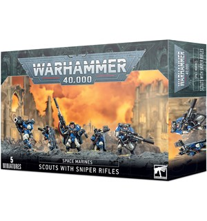 Space Marines Scouts with Sniper Rifles Warhammer 40K