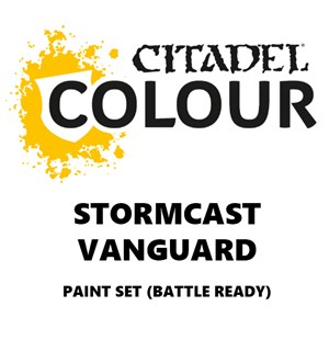 Stormcast Vanguard Paint Set Battle Ready Paint Set for din hær
