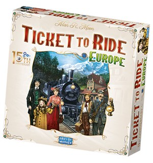 Ticket to Ride Europe 15th Ed Brettspill 15th Anniversary Edition