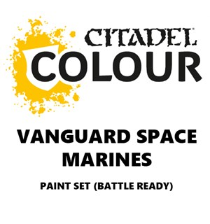 Vanguard Space Marines Paint Set Battle Ready Paint Set for din hær