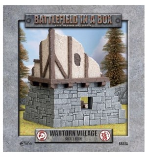 Battlefield in a Box Small Ruin Painted Tabletop Terrain - 25-35mm