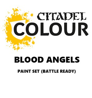 Blood Angels Paint Set Battle Ready Paint Set for din hær