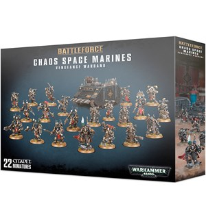 Chaos Space Marines Vengeance Warband Warhammer 40K - 22 miniatyrer